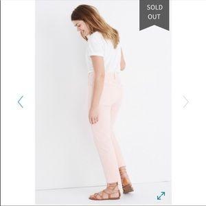 NWOT Madewell Highwaist  straight leg Jean